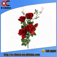 3 Cabezas real Touch Flower Rose francesa