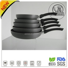 Pressed Fry Pan With Heat Proof Paint Ceramic Coating Long Soft Handle