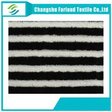 black white stripe Sherpa fabric for slipper