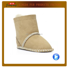 winter lambskin fur baby boots baby shoes