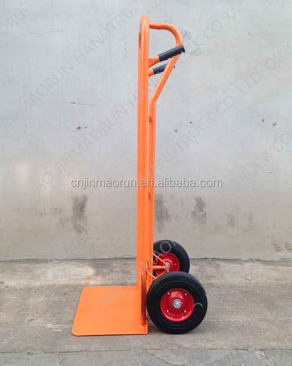 Pneumatic wheel moving hand trolley pull cart truck