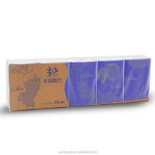 4 ply Slim Fashion Handkerchief Pocket Wallet Tissue Paper 10 bags per pack