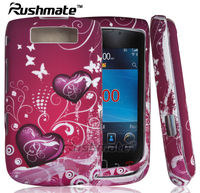 Heart Mobile Phone Covers For Blackberry 9800 Torch Design Rubber Case