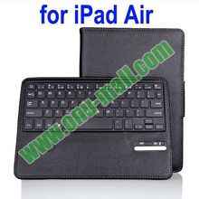 Rectangle Stand Bluetooth Keyboard Leather Case for iPad 5 with Sleep and Wake-up Function