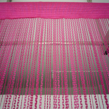 Hanging plum cotton string curtain lace fabric