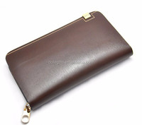 customized Genuine leather handbags PU leather travel business ticket cover holders card wallets bag passport holder for men