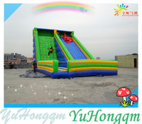 Giant Cheap Inflatable Slide and Climbing Wall for Sale