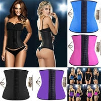 Sport Type Shapers products Wholesale waist training corset Quality 9 Steel Bone Latex corsets