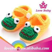 Photo props wholesale cute frog crochet toddler girl shoes