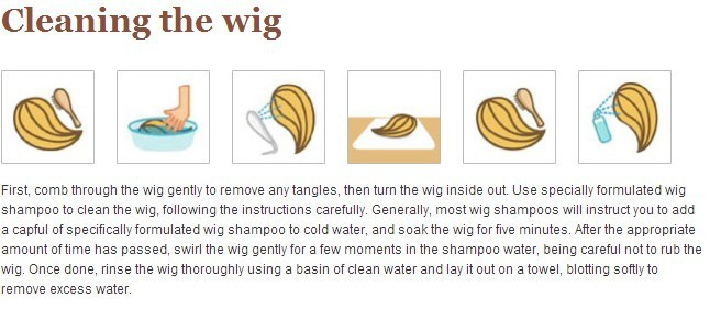 Cleaning the wig