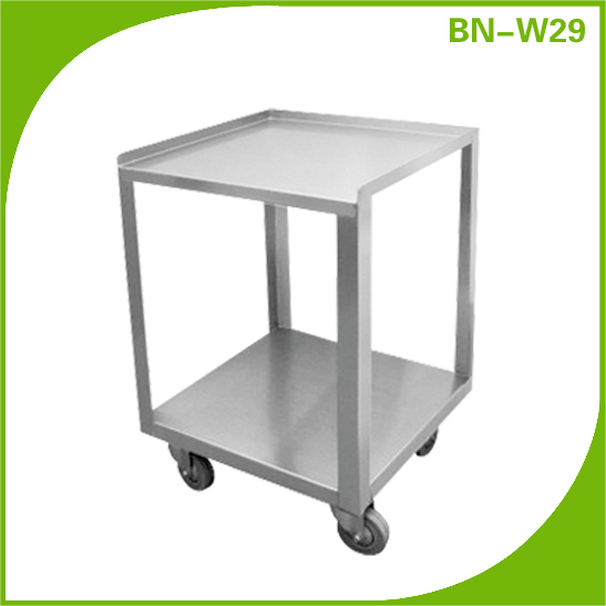 Cosbao commercial restaurant stainless steel small prep work table with wheels bn w29 view prep - Commercial kitchen tables on wheels ...