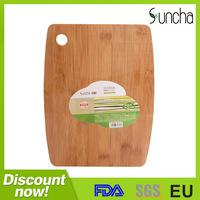 Eco-friendly bamboo cutting board with hole/ vegetable cutting board/ fruit cutting board for health food
