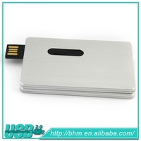 hot sale real capacity credit card shape USB flash drive memory stick with logo printing