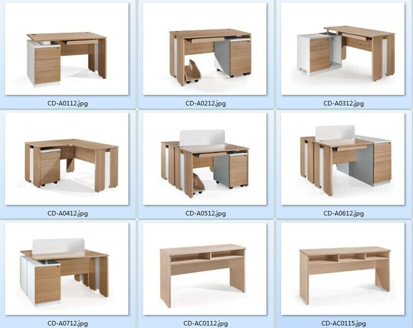 Cf modern design meubilair kantoor unieke computer bureau for Ladeblok in karton