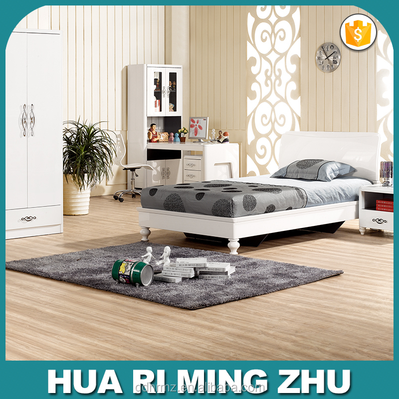 2015 modern children bedroom furniture in white color 706