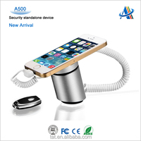 Retail electronic security and loss prevention device,anti-theft security charging display alarm stand for cell phone A500