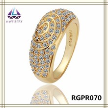 Latest Gold Plated Ring Designs Crystal Diamond Ring Wholesale