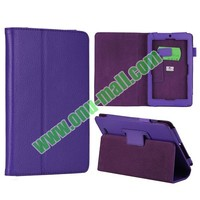 Litchi Texture stand flip leather case cover for asus memo pad me172v with different color and style for choice