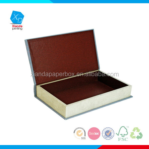 Decorative Boxes Shaped Like Books : Cardboard book shape box decorative display
