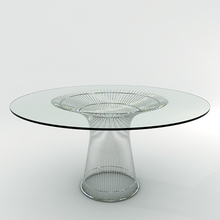 Warren Platner Style Coffee Table Designer Furniture/ Modern Classic stainless steel table