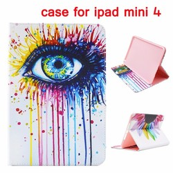 Cross Pattern Wallet Style Magnetic Stand TPU Flip Leather Case for iPad Mini 4