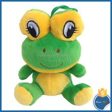 2015 new toy personality big eyes plush green frog