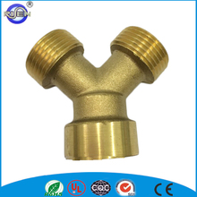 Hot selling Y tee pipe fitting cw614n brass fitting brass y fitting
