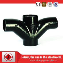 asme B16.9 CS ST32.7/C22.8 butt tube forged concentric cross
