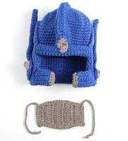 Wacky Beard Men Boy Beanie Face Warmer Handmade Knitted hats with mask
