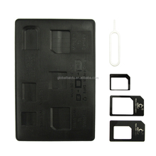 High Quality 4 in 1 Nano Sim card Adapter with Eject Pin Key for mobile phone