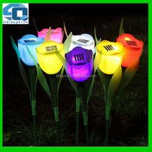hot sales lawn garden led tulip solar flower light , led flower light