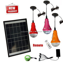 led bulb light, led solar bulb for home house camping outdoor enmergency with rechargeable solar cell panel
