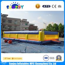 2015 nuevo diseño inflable comercial cancha de voleibol, inflable de la playa cancha de voleibol para el adulto