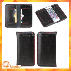 Alibaba China Cowhide two mobile phones leather case for iPhone 6 Pouch Case