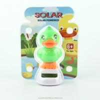 toy duck solar powered dancing ducks, car decorative gift sun doll factory wholesale flip flap