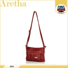 women leather satchel bag/red christmas handbag
