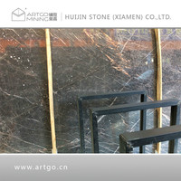 High polished double black marble,black gold portoro slab and tile