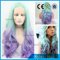 """Hot Items 20"""" Ombre Light Blue &Purple Synthetic Hair Lace Front Wig For Women"""