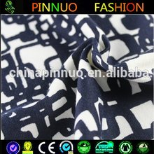 Hot Sale Black And White Decorative Pattern Punto knit roma fabric