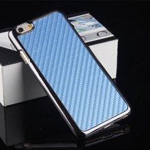 Carbon fiber design cell phone back cover case for iPhone 6 plus