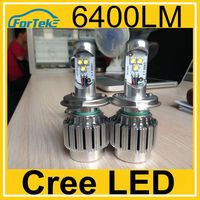 Highest lumens 6400LM car cree led h4 high low all in one cree led car headlights