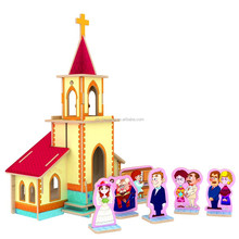 Fairy Tales Series Wedding Chapel DIY 3D Wood House Puzzle