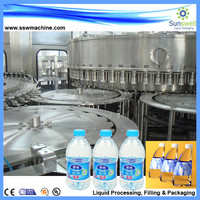 Automatic plastic bottle water washing filling capping machine