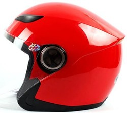 Shiny color Motorcycle three quarter helmet with sun visor - XL /L/M/S