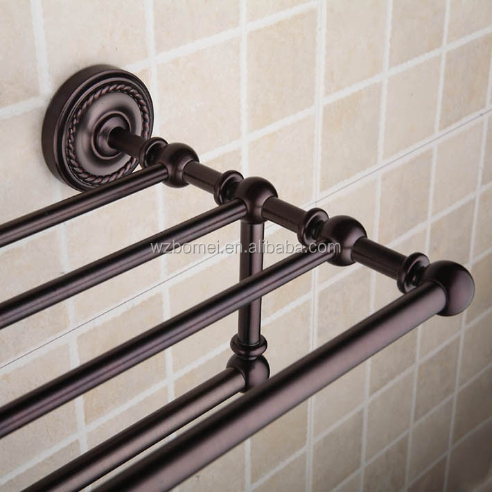 American Style Oil Rubbed Bronze Finishing Metal Bathroom Rack ...