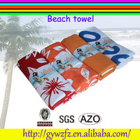 subulimation digital print microfiber towel beach for seaside beach shore spa use
