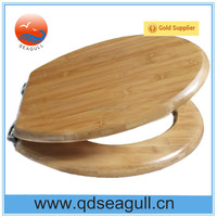 Bamboo Toilet Seat, Toilet Seat Cover with Stainless Steel Hinges, Wooden Toilet Seat with FSC Certificate