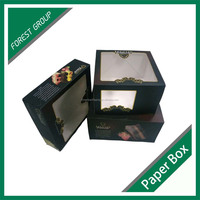 FOOD PACKAGING BOX IVORY BOARD CAKE BOXES WITH PVC WINDOW