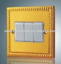 UK 3gang antique wall switches