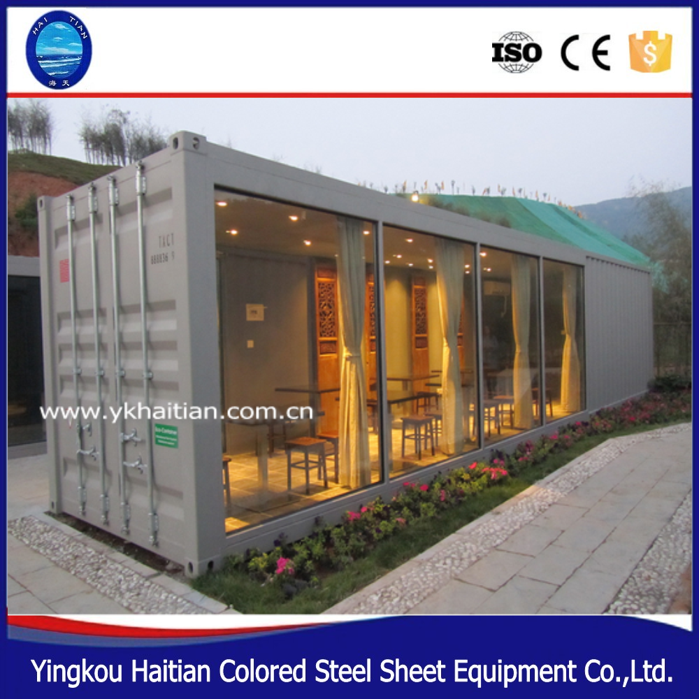 Prefab flat packed design sandwich panel container house - Sandwich panel homes ...